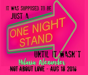 Illustration depicting an illuminated neon sign with a one night stand concept.